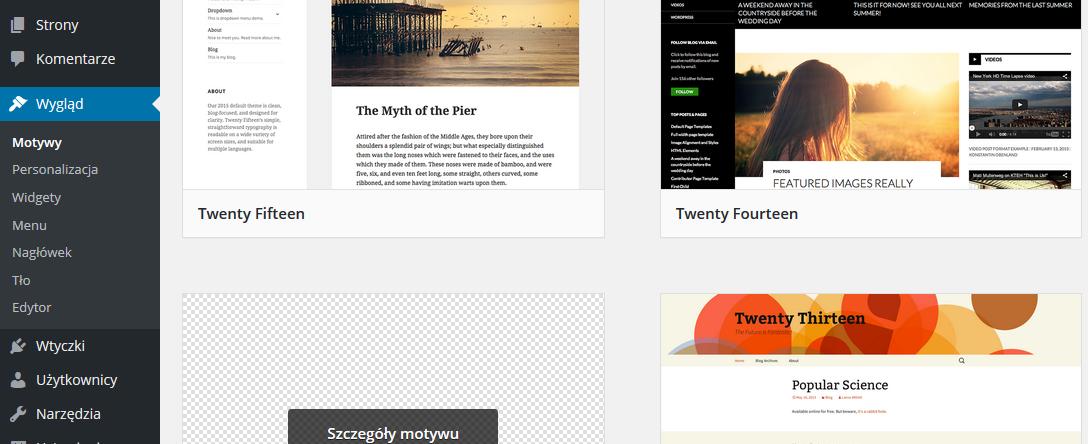 WordPress – czas na potomka
